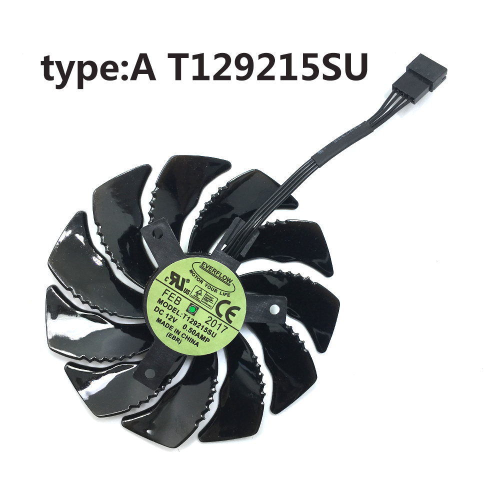 Image 3 - 10Pcs/1Lot 88MM T129215SU 4Pin Cooling Fan For Gigabyte GTX 1050 1060 1070 960 RX 470 480 570 580 Graphics Card Cooler Fan-in Laptop Cooling Pads from Computer & Office