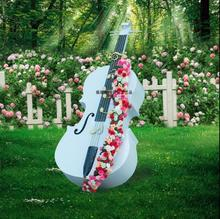 Metal Cello Ornaments Outdoor Garden Wedding Projects Park Decoration Sales Building Villa Musical Instrument Sculpture