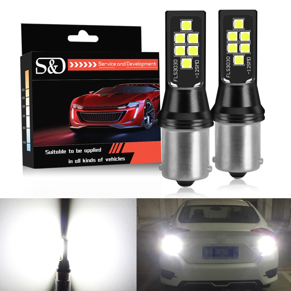 2Pcs 1156 7440 1157 Car LED Turn Signal Light 6000-8000k Reversing lamp PVC