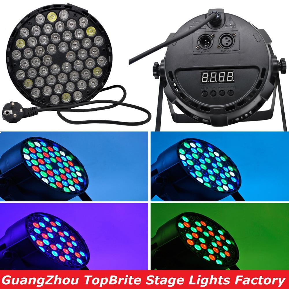 2016 Ventes Chaudes Led Par Can 54X3 w RGBW Led Par Lumière Stroboscopique Contrôleur DMX Party Dj Disco bar Stroboscopique Gradation Effet Projecteur