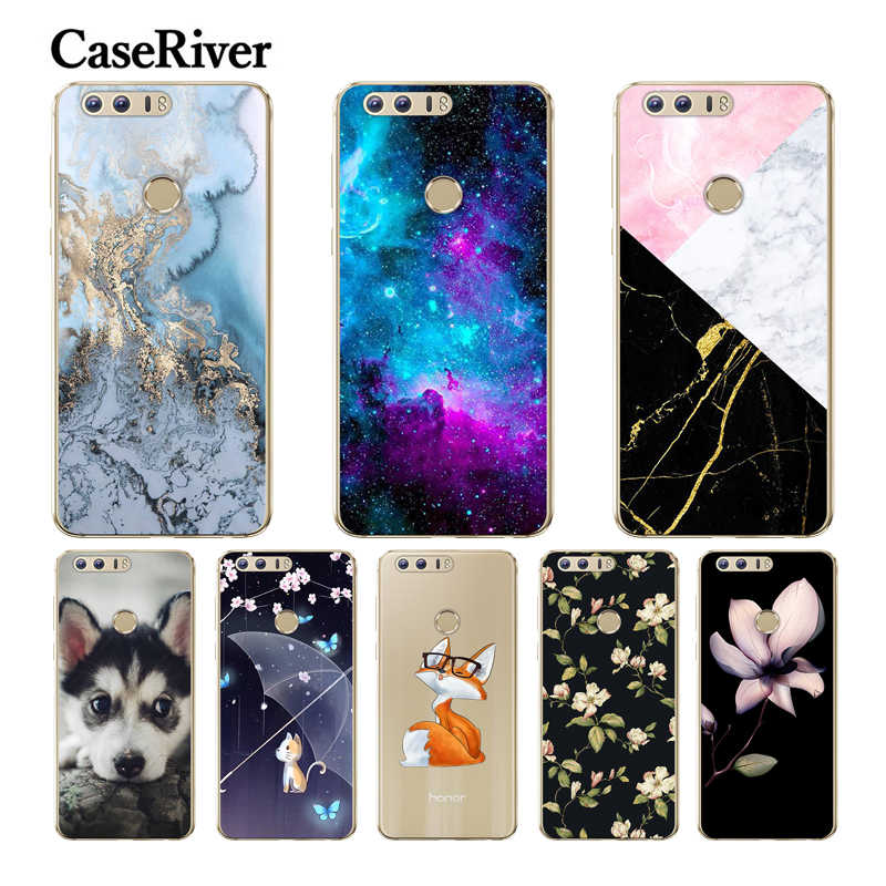 "CaseRiver 5.2"" Phone Huawei Honor 8 Case Cover Protective Soft Silicone Case Huawei Honor 8 TPU Back Shell Honor 8 Case Coque"