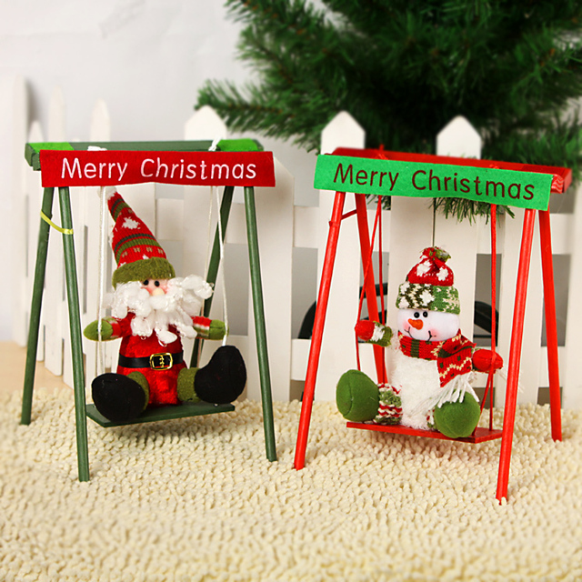 Classic wooden swing Christmas gift ideas Christmas decorations ...