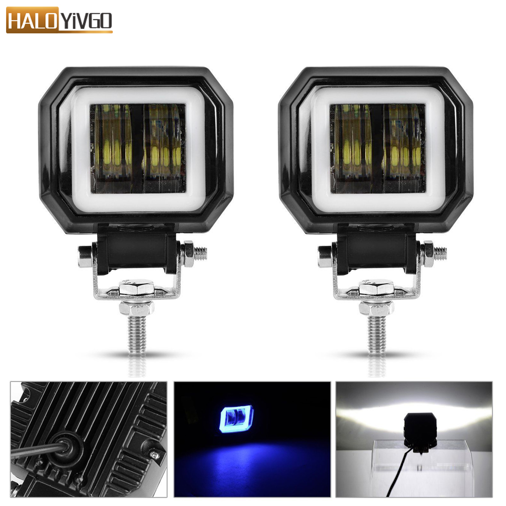2 Pcs 3inch 20W LED Work Lights Portable Spotlights Angel Eyes Driving Pods Offroad Car Boat LED Bar Light Motorcycle ATV 6500K2 Pcs 3inch 20W LED Work Lights Portable Spotlights Angel Eyes Driving Pods Offroad Car Boat LED Bar Light Motorcycle ATV 6500K