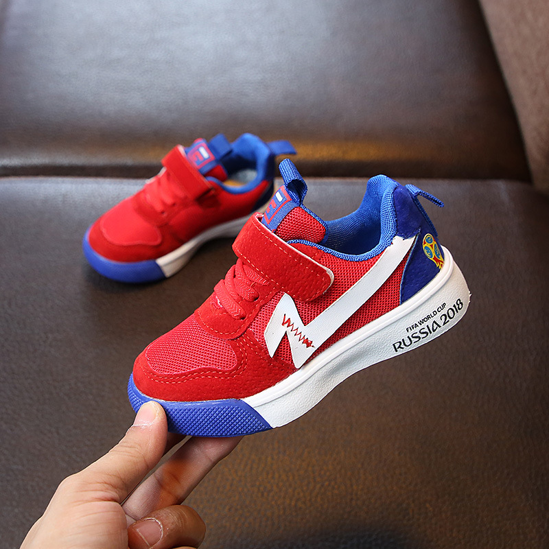 Spring New Children Shoes For Boys Sneakers Baby Toddler Casual Fashion Girls Running Red Kids Mesh Breathable School Sport Shoe
