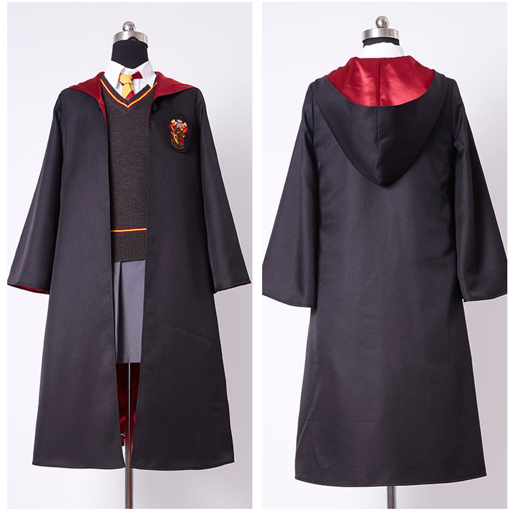 Gryffondor Uniforme Hermione Granger Cosplay Costume Enfant Fille Uniforme Pleine Dress Halloween Partie Quotidienne Costume Manteau