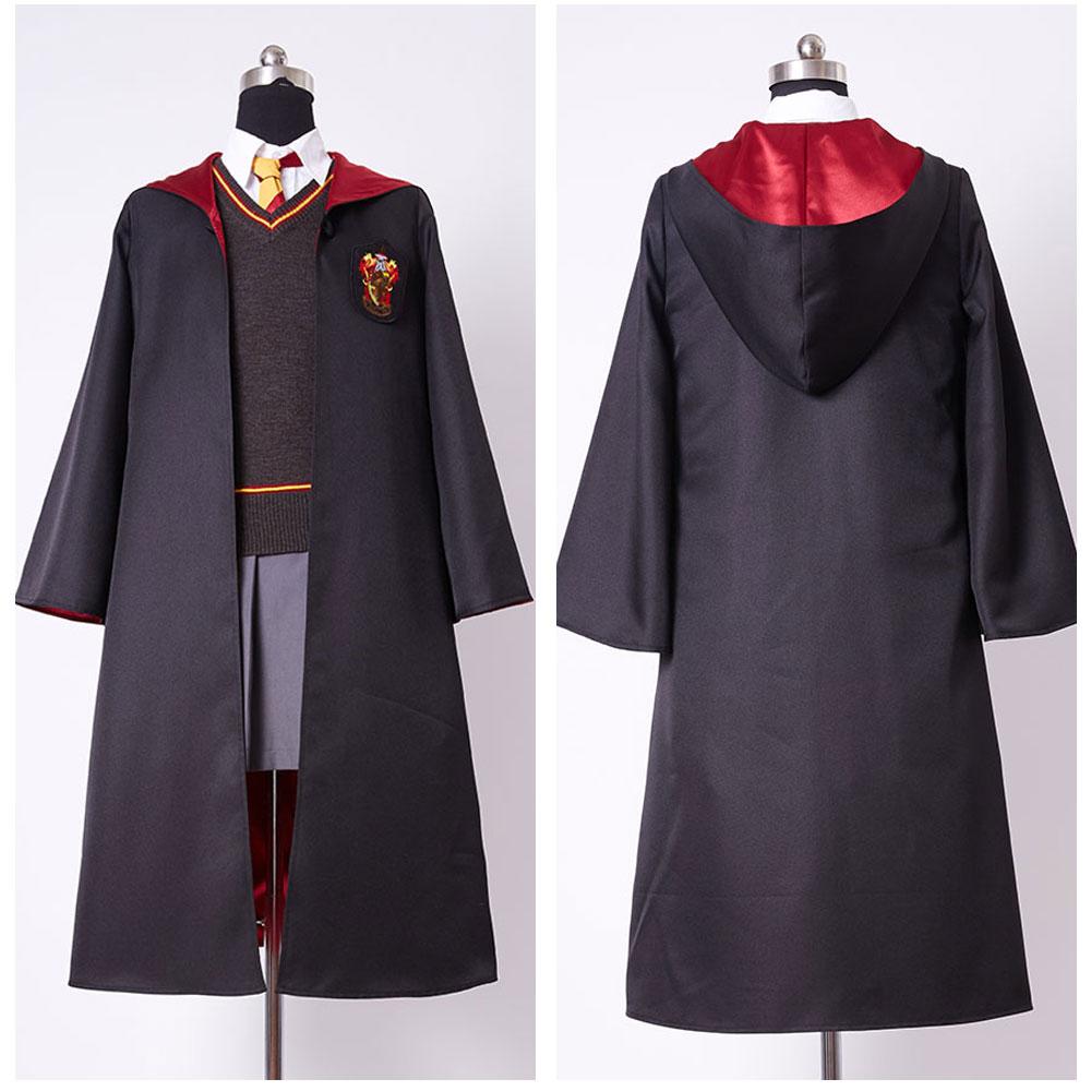 Uniforme Gryffindor Hermione Granger Cosplay disfraz niño niña uniforme vestido completo fiesta de Halloween traje diario capa