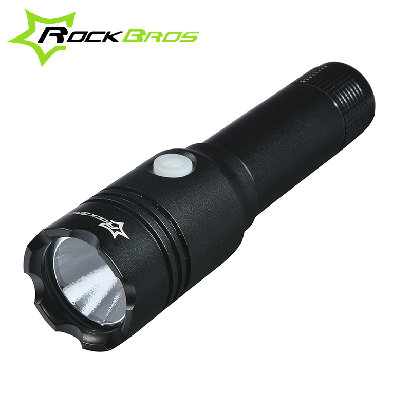 ROCKBROS Bicycle Light Waterproof Bike Front Light Cycling Flash Light Bike Rechargeable Torch Light 3-Modes Bike Accessories