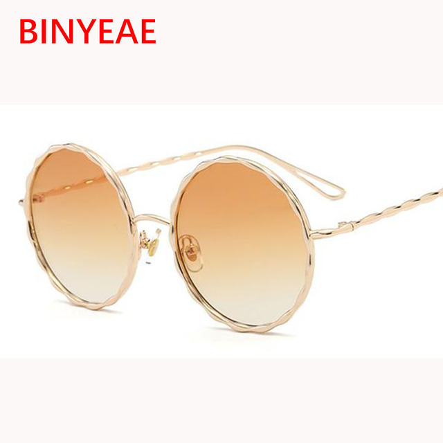 7be50b27b1 oversized round sunglasses women Spring Summer 2018 Trends sunglasses  fashion gold circle glasses green sunglasses lunette