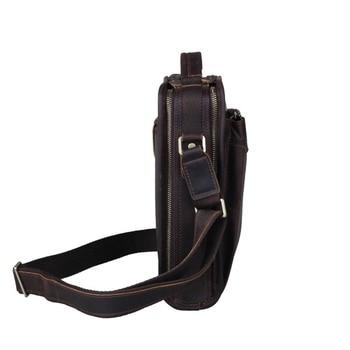Crossbody Organizer Bag   2018 Vertical Real Leather Handbags Top Quality Organizer Bag For Men Crazy Horse Leather Vintage Shoulder Crossbody Bag Bolsa