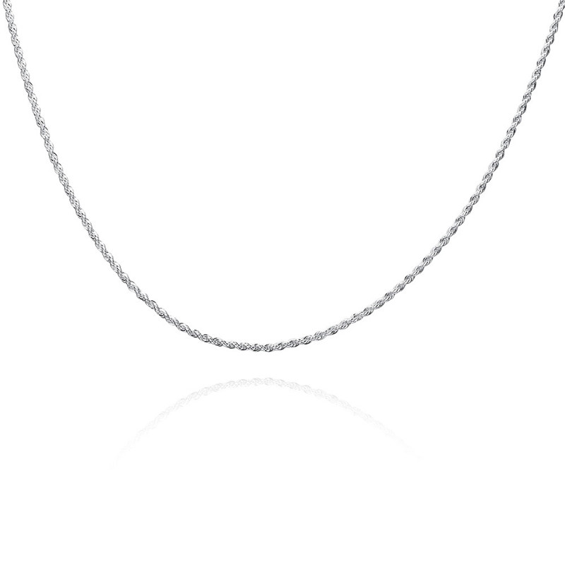 Hot fashion accessories silver twisted chain necklace 16--24inches cool neutral style classic charm jewelry for man and woman