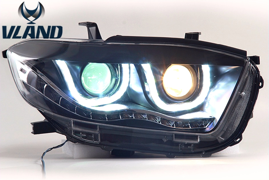 Free shipping Vland New Car Styling LED Head Lamp For Toyota Highlander Headlight 2009 2011 Led Turn Signal Drl High quality free shipping vland car tail lamp for toyota camry led taillight 2015 2016 drl signal reverse lamp