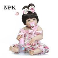 20 Inches Baby Reborn 50 cm Realistic Reborn Doll Waterproof Baby Handmade Lifelike Silicone Sleeping Baby Doll Bath Toy
