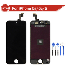 A + + + + Sin Píxeles Muertos LCD con pantalla táctil digitalizador asamblea iphone 5s 5c 5 pantalla lcd con digitalizador + herramientas de envío gratis