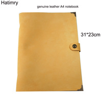 Hatimry A4 notebook 9 holes genuine leather cover journal books dairly planner Vintage handmade notebook office school supplies