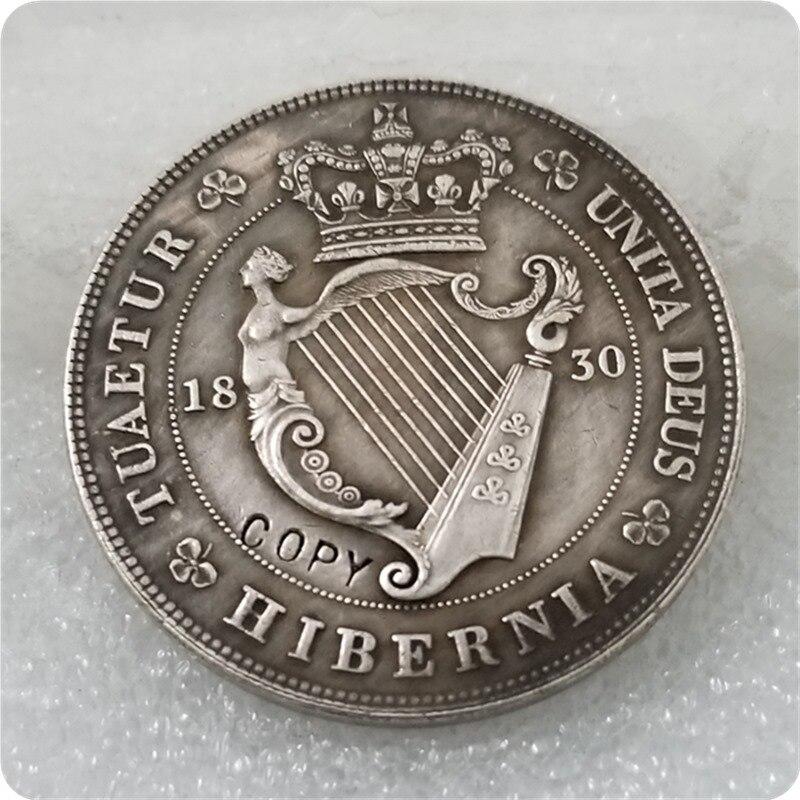 1830 Uk Crown George Iv Welsh Munt Zilver Copy Gratis Verzending Perfect In Vakmanschap