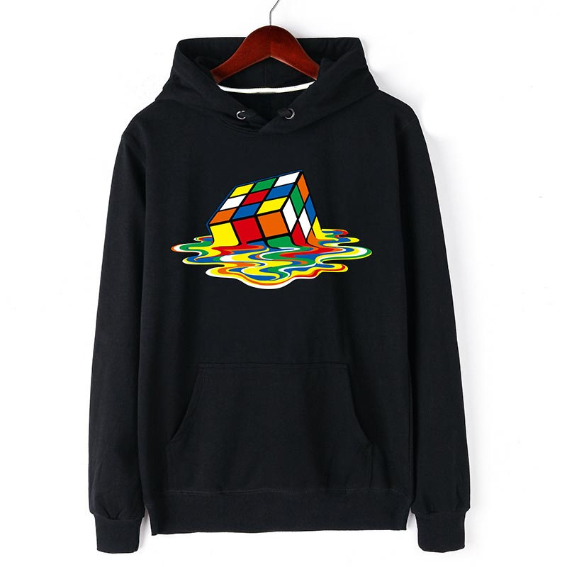 Fjun Cartoon Magic Cube Fashion Hooded Sweatshirt 3d Print Black/gray 3xl Big Size Cotton Hoodies For Men New Arrival Men's Clothing