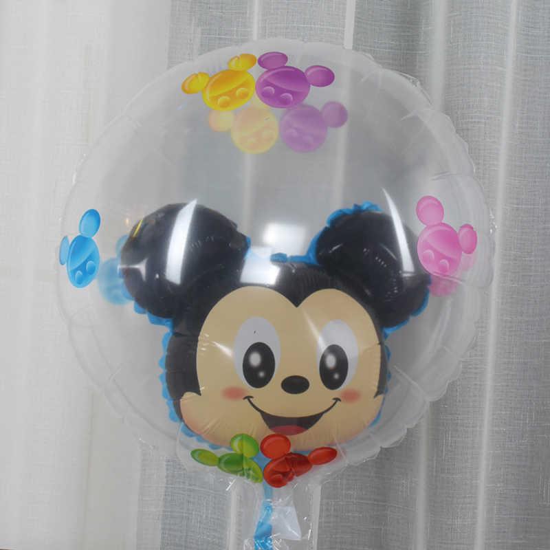1 ピースミッキーミニー透明風船ミッキーマウスにボールをボールバルーン誕生日パーティーの装飾子供のおもちゃグロボス