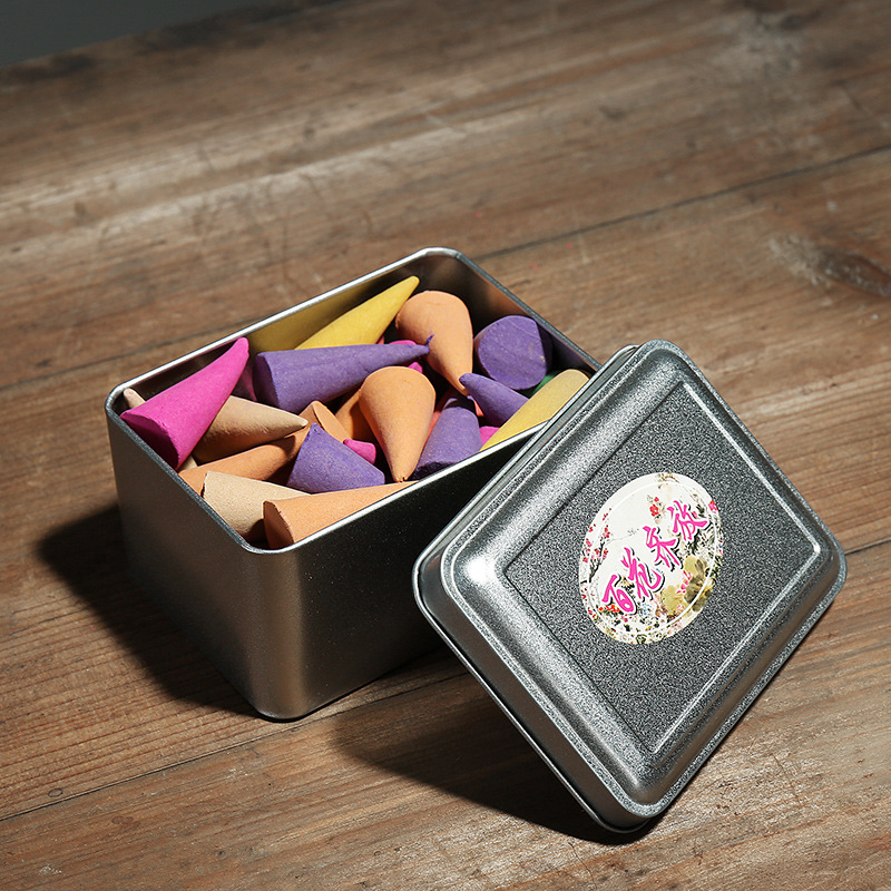 US $9 68 26% OFF|F Natural Cone Incense 15min Burning Rose Lavender Cone  Censer Sanitary Incense Domestic Indoor Spice Bedroom Fragrant Incense-in