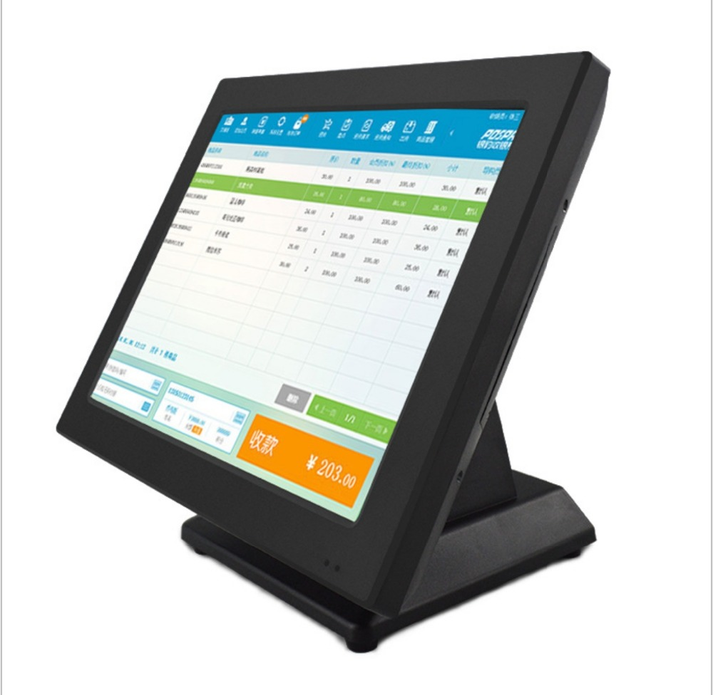 15+12 Inch Capacitive Touch All In One POS, Printer+Dual Screen, Win Or
