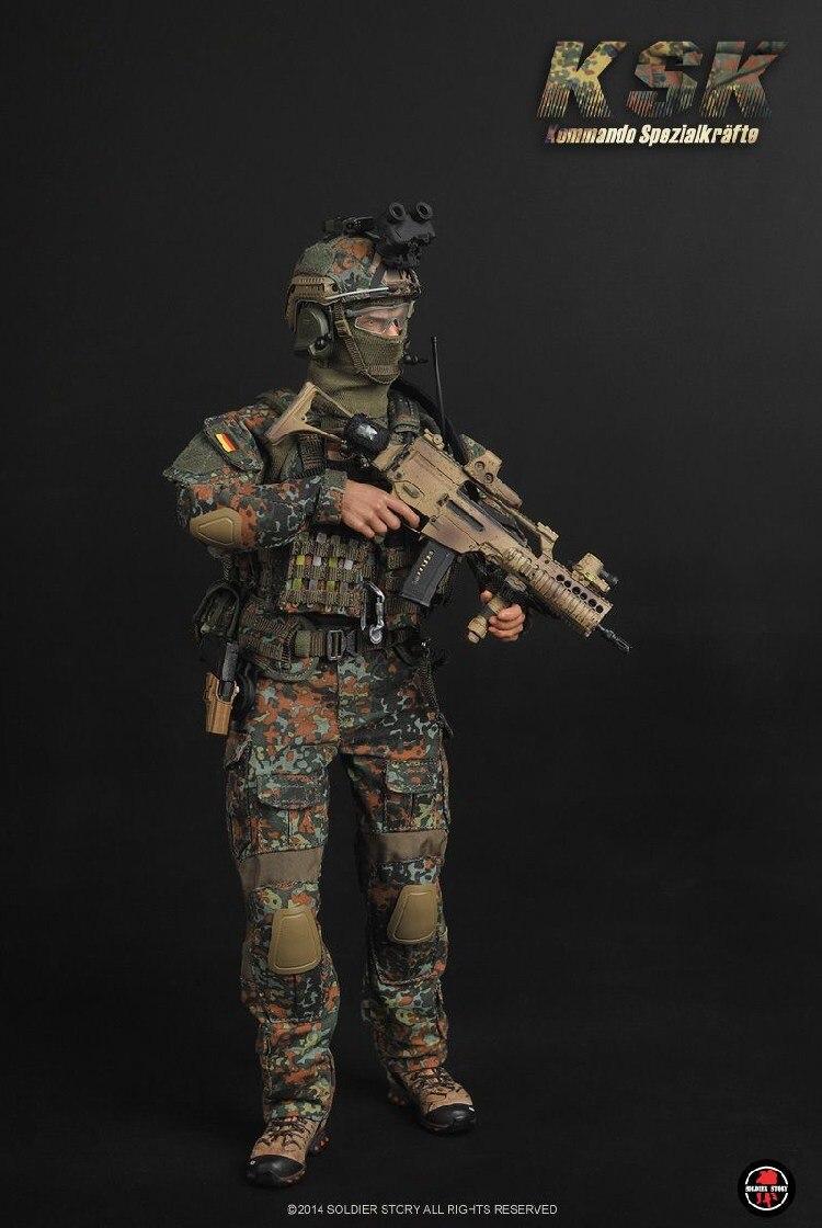 SS088 SS allemand KSK Forces spéciales 1/6 soldats modèles costumes