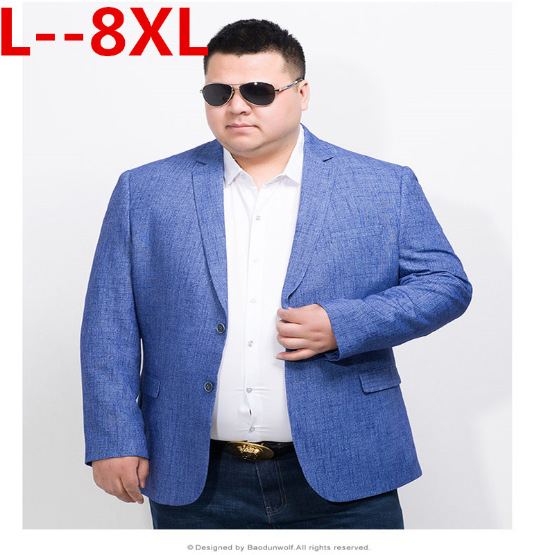 10XL 8XL 6XL 5XL 4X Brand Sky Blue Blazer Men Costume Veste Homme 2018 New Arrival Mens Loose Fit Blazer Jacket Stylish Suit Men