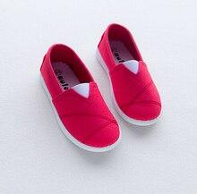 2016 весной новые дети мальчики обувь для девочек мода конфеты цвет холст девочек мягкой подошвой свободного покроя холст мальчики обувь девушки