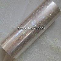 Holographic Star Foil Transparent Foil Hot Stamping For Paper Or Plastic 16cm X120m Shattered Star Gilding