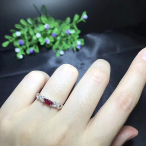 Image 3 - Natural ruby ring, 925 sterling silver, simple and exquisite style, cheap price, recommended by the owner, authentic color