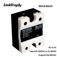 RM1A40A25 5pcs Smart Mini AC AC Solid State Relay 25A,Output:42-440VAC Input: 20-280VAC/22-48V DC,PLC SSR Relay Board Switch