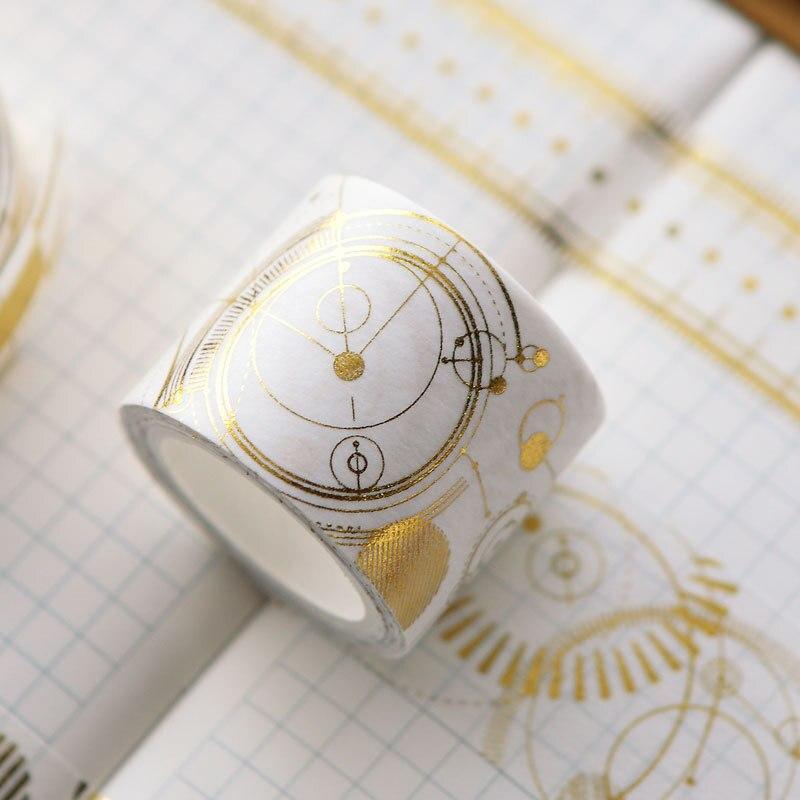 Geometry Gilding Decorative Washi Tape DIY Scrapbooking Masking Craft Tape School Office Supply