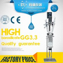 High Borosilicate GG3.3 Lab Glass Reactor /Reaction Vessel price with condenser/Dropping funnel Flask /Vacuum for distillation