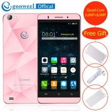 Gooweel M5 Pro Smartphone 3G MTK6580 Quad core 5 zoll IPS bildschirm Mobie telefon android 5.1 5MP + 8MP Kamera GPS handy Freies geschenk