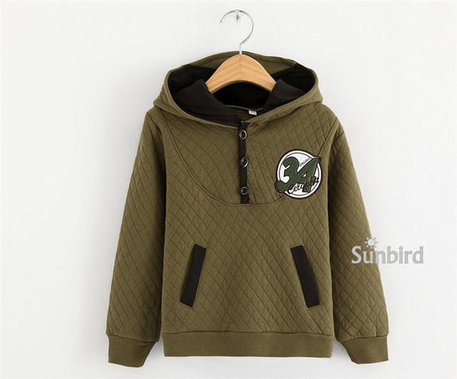 Y-1, carta 34, crianças meninos hoodies outwear, 100% algodão de ar, manga longa camisolas de manga.
