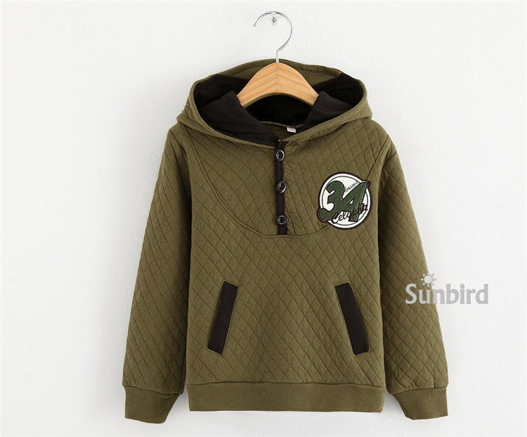 Y-1, letter 34, children boys hoodies outwear, 100% air cotton, long sleeve sleeve sweatshirts.