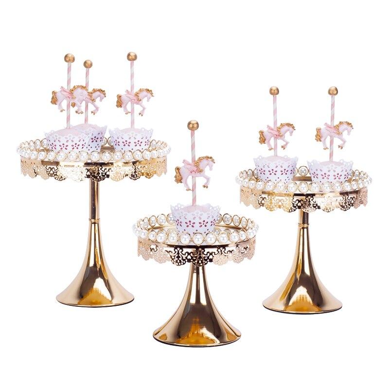 Nouveaux supports à gâteau perle & miroir 1 pièce supports à cupcake fondant outils de décoration de gâteau de table douce pour dessert de mariage