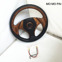 MOMO PAI Car Styling Universal Steering Wheel Modified 13 Inch Racing Car PU Steering Wheel Red