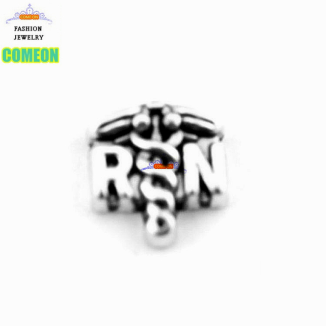 Alloy Diy Silver Charms Registered Nurse Rn Medical Symbol Floating