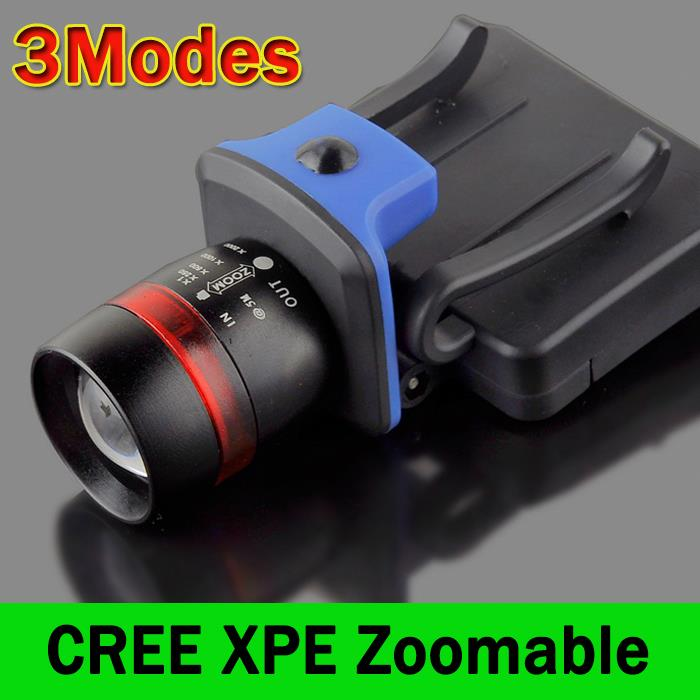 ФОТО 120 Lumens LED Headlight Head Light 3 Modes Water Resistant Lamp Frontale Headlamp Zoomable Clip-on Cap Hat Head Lamp Light ZK93