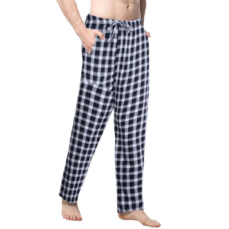 2019 мужские весенне-летние клетчатые штаны для сна Мужская пижама брюки для пижамы мужские s плюс размер пижамные брюки мужские клетчатые штаны для сна