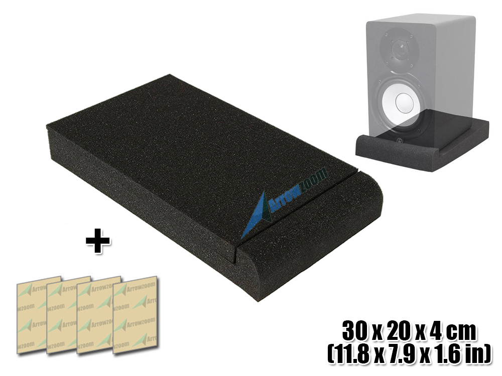 Arrowzoom 11.8 x 7.9 x 1.6 Sound Absorbing Acoustic Studio Speaker Monitor Isolation Foam Pad Riser water absorbing oil absorbing cleaning cloth