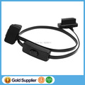20pcs/Lot! OBD II extension cable with switch Flat Thin As Noodle 16PIN OBD2 Cable with Switch Type Aut Scanner Connector