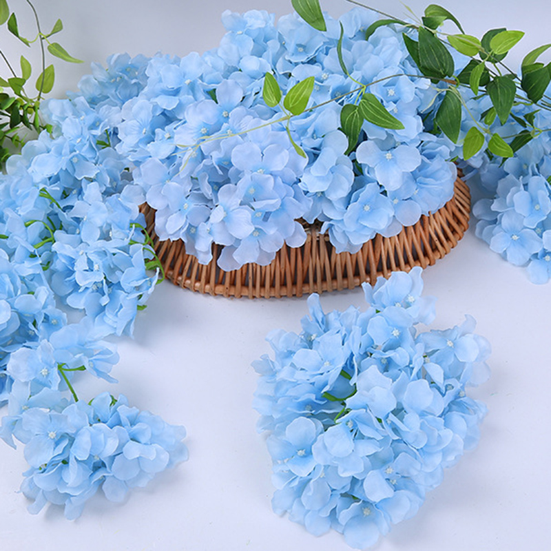 Image 3 - 10pcs/lot Colorful Decorative Flower Head Artificial Silk Hydrangea DIY Home Party Wedding Arch Background Wall Decorative Flowe-in Artificial & Dried Flowers from Home & Garden