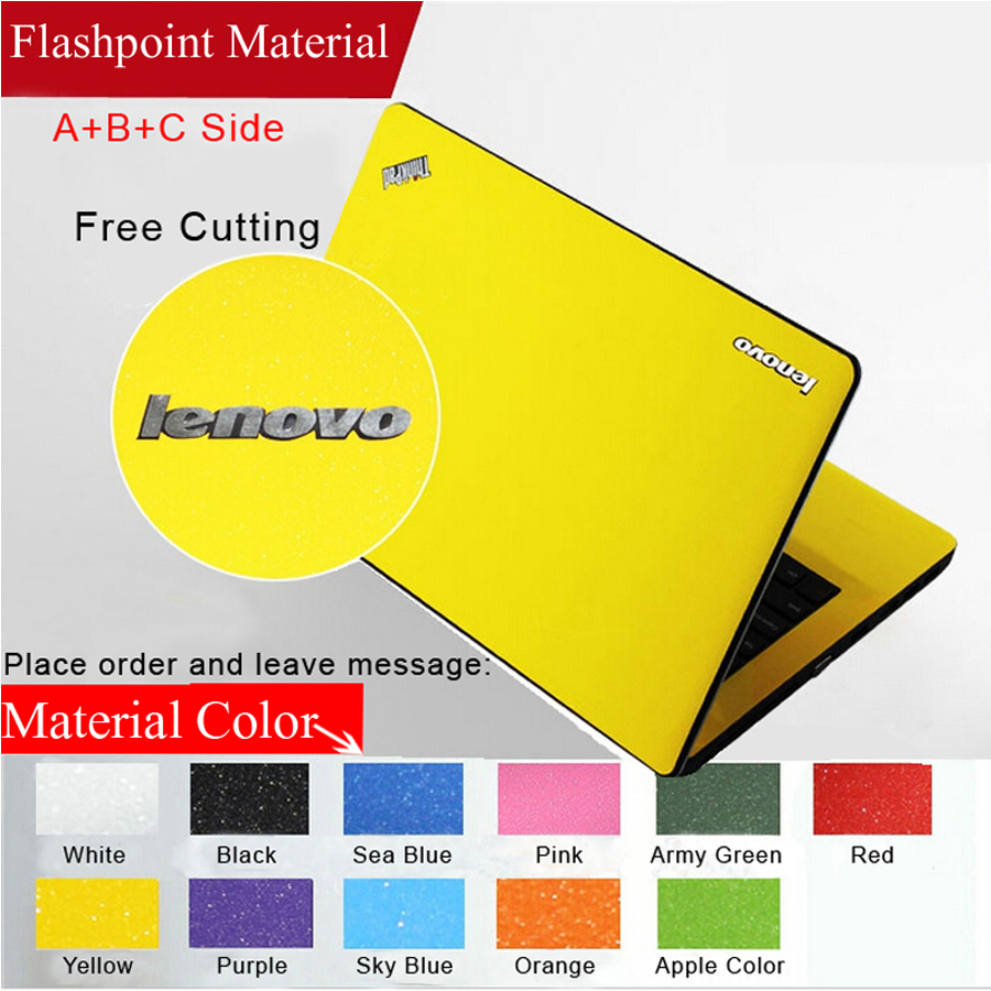 Pure Color Dust-proof Laptop Sticke Personality Skins Protective Decal Stickers For lenovo Savior-14/u31-70/U41-70/ y50c