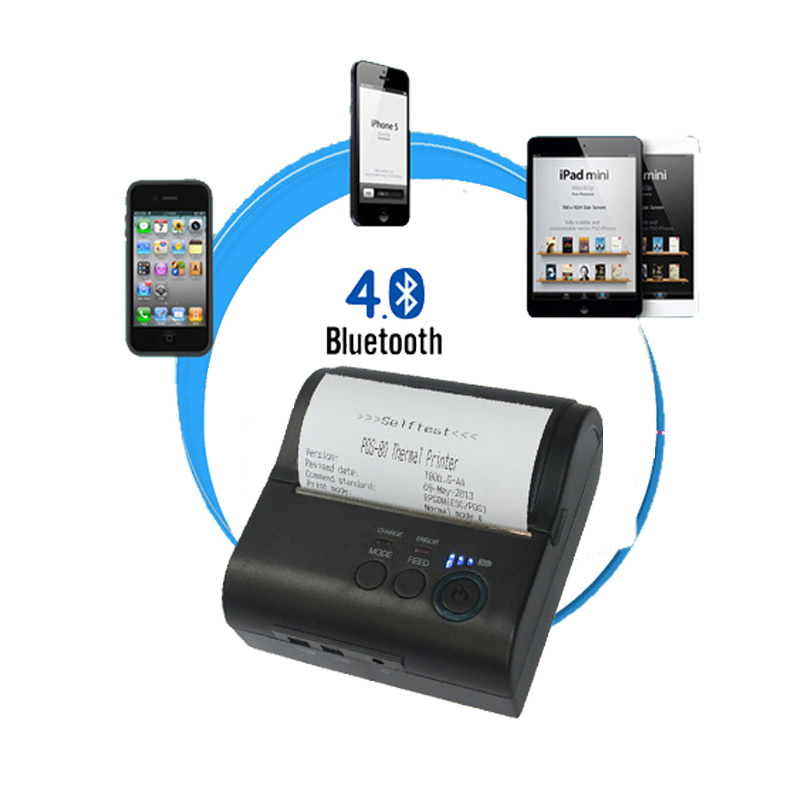 IOS and Android portable 80mm bill bluetooth thermal receipt printer with battery for police outdoor mobile printer free sdk 80mm mobile portable thermal receipt printer android bluetooth printer mini android printer support android ios pc