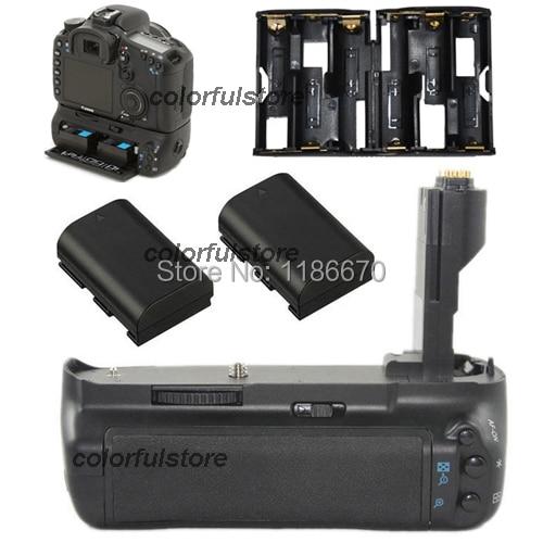 Pro Vertical Power Shutter Battery Hand Handle Grip Holder Pack For Canon EOS 7D Digital SLR Camera replace of BG-E7 + 2 x LP-E6 pro vertical battery grip holder for canon eos 760d 750d t6s t6i ix8 as bg e18