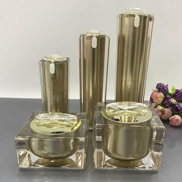 High Grade Gold Cosmetics Sub Acrylic 30/50/100ML Lotion Pump Bottle, Classic 15/30/50G Acrylic Cream Jar 6PCS 1Suit High Grade Gold Cosmetics Sub Acrylic 30/50/100ML Lotion Pump Bottle, Classic 15/30/50G Acrylic Cream Jar 6PCS 1Suit