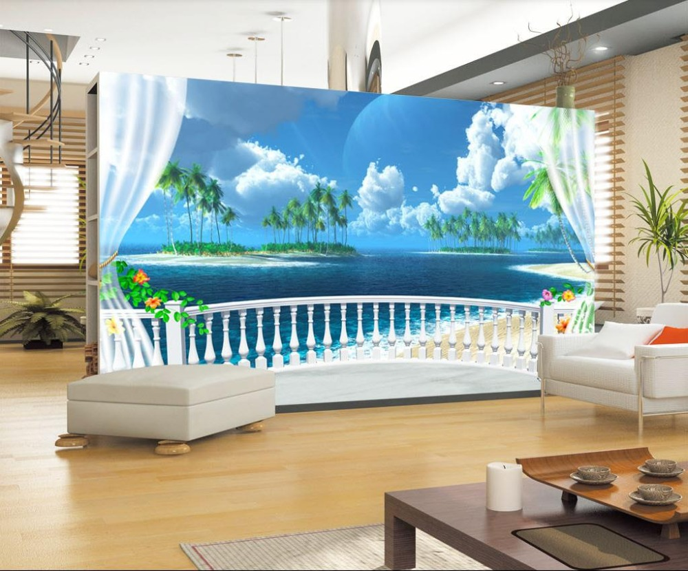 Custom 3d Wallpaper Murals Mediterranean Fresco