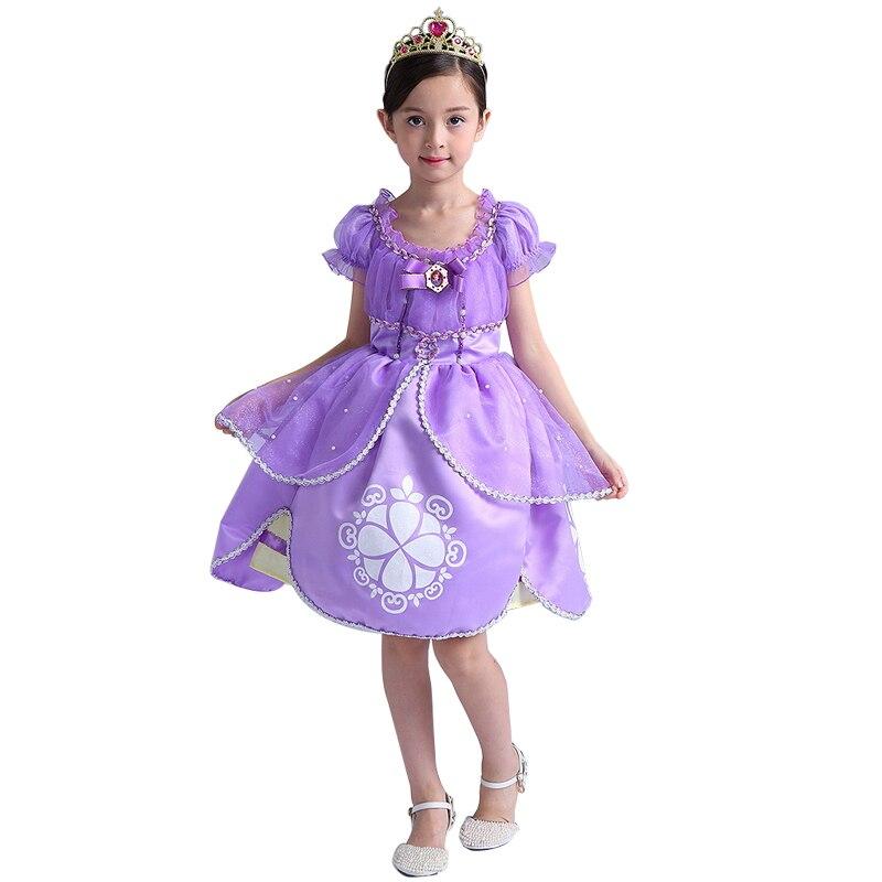 Sofia Princess Dress Kids Cosplay Costumes Girls New Arrival: 2019 New Sofia Princess Dress Sofia Princess Cosplay