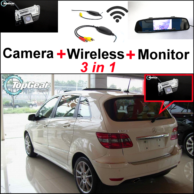 3in1 Special WiFi Camera + Wireless Receiver + Mirror Screen DIY Rear View Parking System For Mercedes Benz MB B Class W245