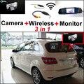 3in1 Wi-fi Câmera Sem Fio + Receptor + Tela Espelho Especial DIY Sistema de Visão traseira de Estacionamento Para Mercedes Benz MB Classe B W245